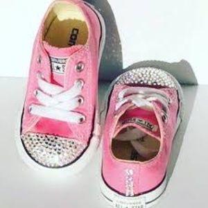 Baby toddler girls Converse sneaker rhinestone